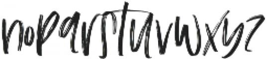 The Scarlett Regular otf (400) Font LOWERCASE