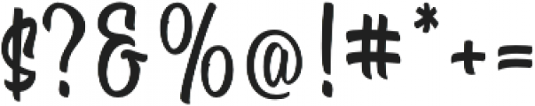 The Signals Script otf (400) Font OTHER CHARS