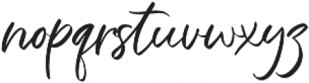 The Strength otf (400) Font LOWERCASE