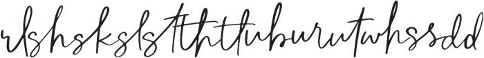 The Subject Ligature otf (400) Font LOWERCASE
