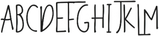 The overthinkers otf (100) Font UPPERCASE