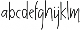 The overthinkers otf (100) Font LOWERCASE