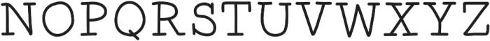 TheBakery otf (400) Font UPPERCASE