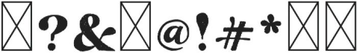 TheCalifornia Serif Regular otf (400) Font OTHER CHARS
