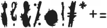 TheMinimalist Green otf (400) Font OTHER CHARS