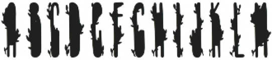 TheMinimalist Green otf (400) Font UPPERCASE