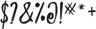 TheWolf otf (400) Font OTHER CHARS
