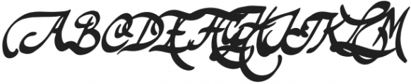 TheodoreBagwell otf (400) Font UPPERCASE