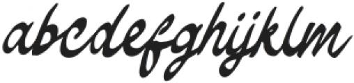 TheodoreBagwell otf (400) Font LOWERCASE