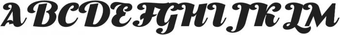 Thephir Bold Slanted otf (700) Font UPPERCASE