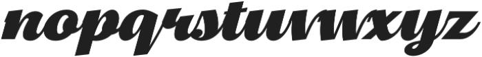 Thephir Bold Slanted otf (700) Font LOWERCASE