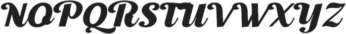 Thephir Semi Bold Slanted otf (600) Font UPPERCASE