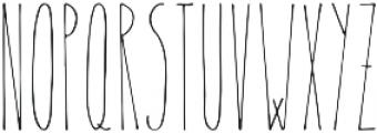 Therevel Thin otf (100) Font UPPERCASE