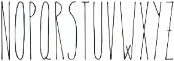 Therevel Thin otf (100) Font LOWERCASE