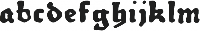 Therhoernen otf (700) Font LOWERCASE