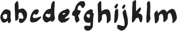 Thick round handwriting JES ttf (400) Font LOWERCASE