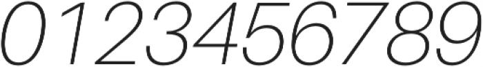Thin Italic otf (100) Font OTHER CHARS