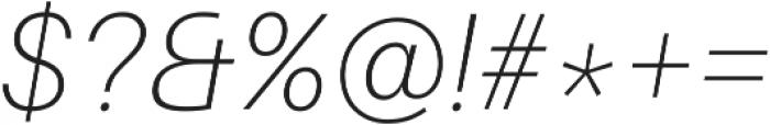 Thin Italic ttf (100) Font OTHER CHARS