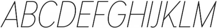 Thin Oblique otf (100) Font UPPERCASE