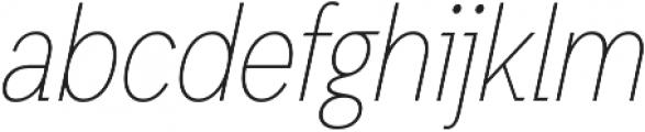 Thin Oblique otf (100) Font LOWERCASE