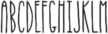 Thin Stanley otf (100) Font UPPERCASE