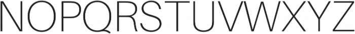 Thin otf (100) Font UPPERCASE