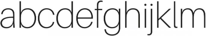Thin otf (100) Font LOWERCASE