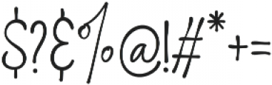 Think and Joy otf (100) Font OTHER CHARS