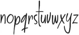 Think and Joy otf (100) Font LOWERCASE