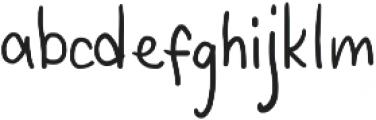 Third Storey Lowercase otf (400) Font LOWERCASE