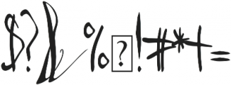 Third Storey Script otf (400) Font OTHER CHARS