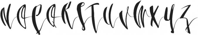 Third Storey Script otf (400) Font UPPERCASE