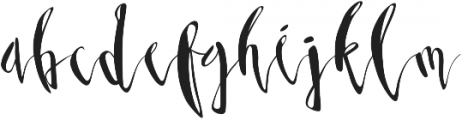 Third Storey Script otf (400) Font LOWERCASE