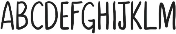 Third Storey otf (700) Font UPPERCASE