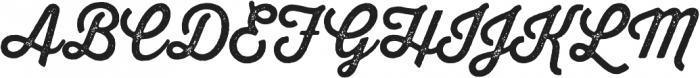 Thirsty Rough Regular One otf (400) Font UPPERCASE