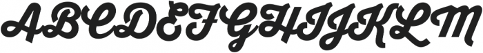 Thirsty Script Black otf (900) Font UPPERCASE
