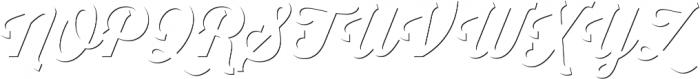 Thirsty Script Bold Shd otf (700) Font UPPERCASE