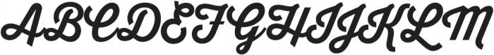 Thirsty Script Bold otf (700) Font UPPERCASE