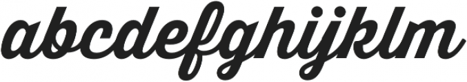 Thirsty Script Bold otf (700) Font LOWERCASE