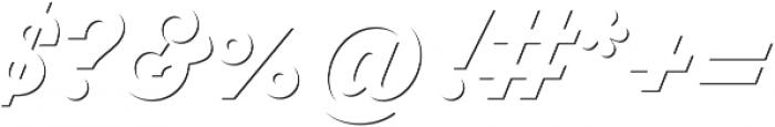 Thirsty Script Extrabold Shd otf (700) Font OTHER CHARS