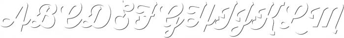 Thirsty Script Extrabold Shd otf (700) Font UPPERCASE