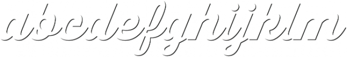 Thirsty Script Extrabold Shd otf (700) Font LOWERCASE