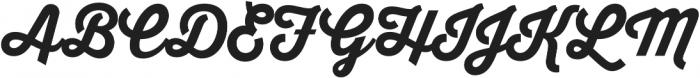 Thirsty Script Extrabold otf (700) Font UPPERCASE