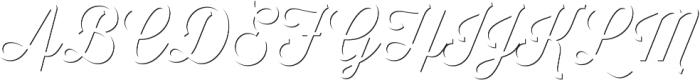 Thirsty Script Light Shd otf (300) Font UPPERCASE
