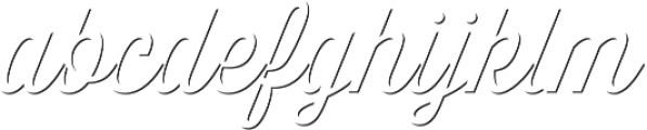 Thirsty Script Light Shd otf (300) Font LOWERCASE