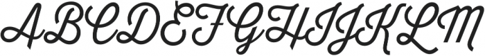 Thirsty Script Light otf (300) Font UPPERCASE
