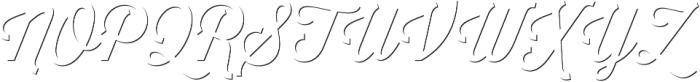 Thirsty Script Regular Shd otf (400) Font UPPERCASE