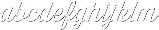 Thirsty Script Regular Shd otf (400) Font LOWERCASE