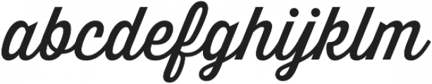 Thirsty Script otf (400) Font LOWERCASE