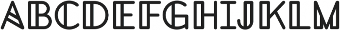 This Geometry otf (400) Font UPPERCASE